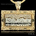 Gold Plated Bling Bling Cubic Zirconia Last Supper Jesus Pendant