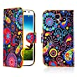 32nd� Design book wallet PU leather case cover for Samsung Galaxy S4 i9500 + Screen Protector and Cloth - Jellyfish