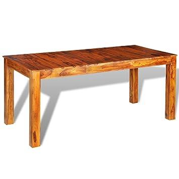 vidaXL Sheesham in legno massello Tavolo da pranzo 180x 8576cm