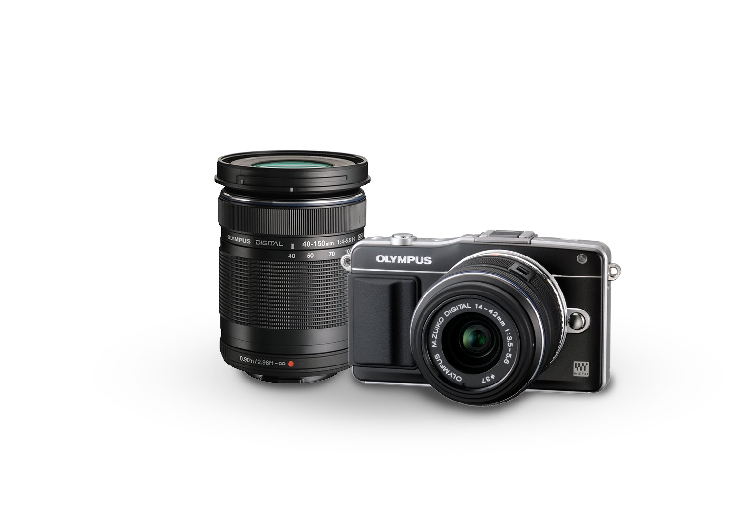 Olympus E-PM2 16MP Compact System Camera with 14-42mm and 40-150mm Two Lens Kit