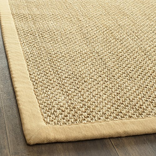 Safavieh Natural Fiber Collection NF443A Handmade Maize and Wheat Sisal Area Rug, 5 feet by 8 feet (5' x 8')