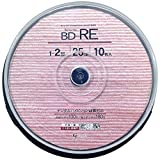 Amazon.co.jpGood-J ブルーレイディスク BD-RE くり返し録画可能 データ&ビデオ対応(25GB/130min) 1-2倍速 ホワイトプリンタブル(ワイドプリント対応) 10枚 スピンドルケース GJRE25-2X10PW