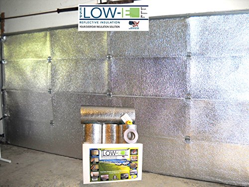 ESP Low-E® SSR Two Car Garage Door(16'x7') Insulation Kit (Foil Interior Finish):Includes ESP Low-E® Reflective Foam Core Insulation (120 sq ft), Razor Knife, Squeegee, Double Adhesive Tape. 25 Years Products and Service From the Creators of Low-E (Garage Door 2 Car compare prices)