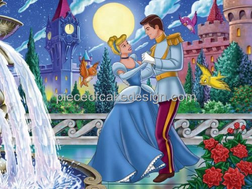 1/4 Sheet ~ Disney Princess Cinderella Dancing Birthday ~ Edible Image Cake/Cupcake Topper!!!