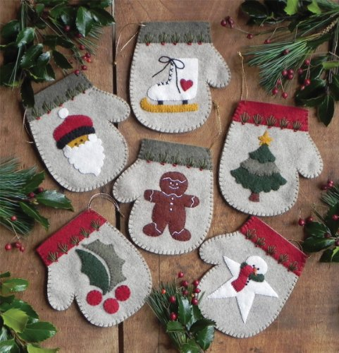 Rachel's Of Greenfield Warm Hands Ornament Kit Set Of Six