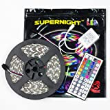 SUPERNIGHT 16.4FT SMD 5050 Waterproof 300LEDs RGB Flexible LED Strip Light Lamp + 44Key IR Remote Controller