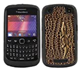 ITALKonline SoftSkin BRONZE CROCODILE PRINT Super Hydro Silicone Protective Armour/Case/Skin/Cover/Shell for BlackBerry 9360 Curve