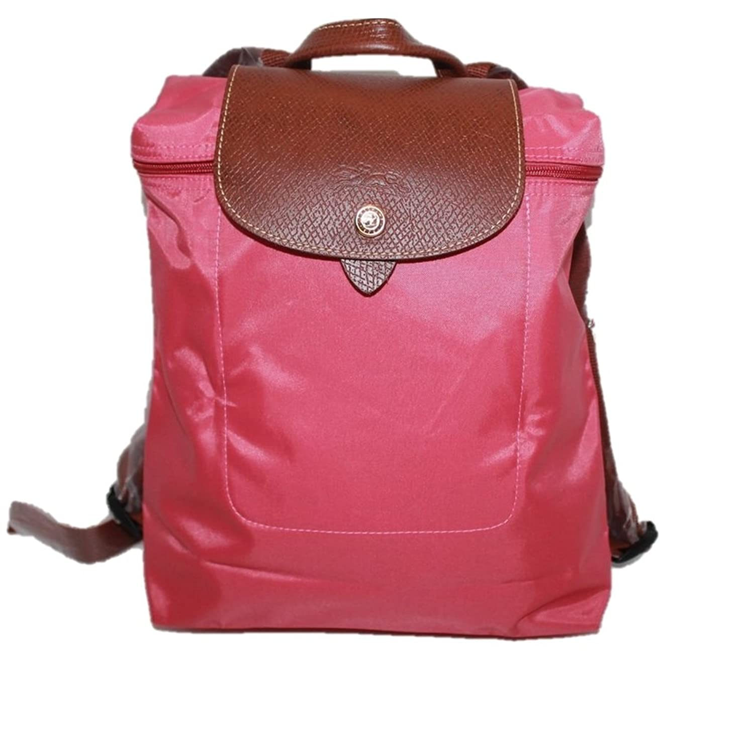 Longchamp Lid Backpack - Le Pliage, Malabar Pink