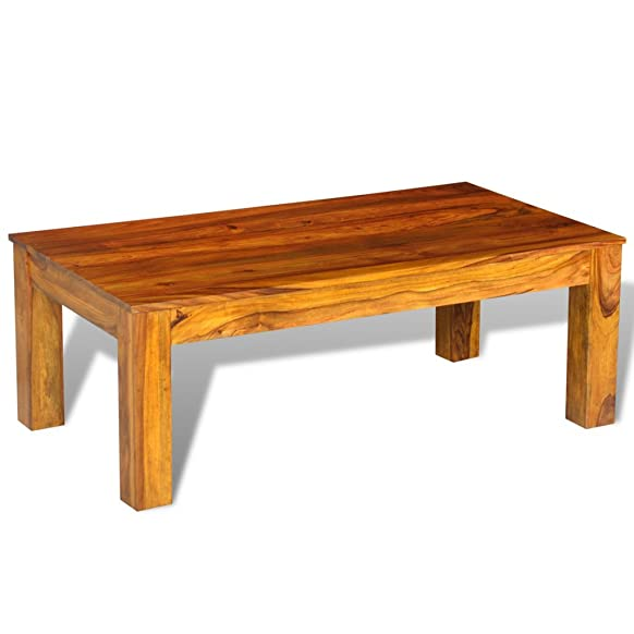 Festnight Solid wood coffee table for sheesham 110 x 60 x 40 cm Tavolino per caffè in legno massello di sheesham 110 x 60 x 40 cm