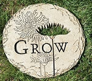 12 Flower Cut Out Grow Decorative Outdoor Garden Patio Stepping Stone Outdoor