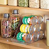 mDesign Canned Dog and Cat Food Organizer for Pet Storage - Clear