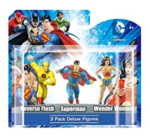 "DC 4"" PVC Reverse Flash, Superman, Wonder Woman Figure Set (4-Piece)"