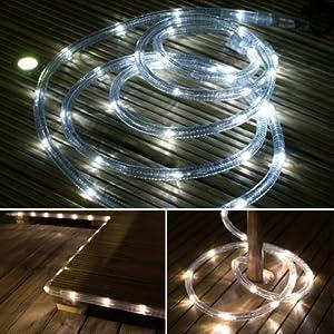 Solar Rope Tube LED Garden Light 3m Warm White