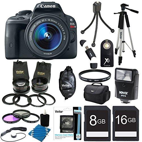 Canon EOS Rebel SL1 18MP DSLR Camera Ultra 3 Lens Bundle