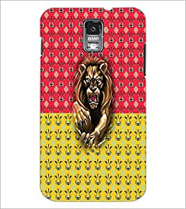 PrintDhaba Lion D-5632 Back Case Cover for SAMSUNG GALAXY S5 (Multi-Coloured)