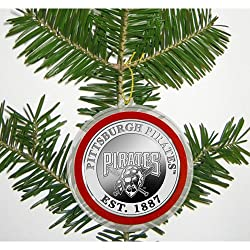 Pittsburgh Pirates Silver Coin Ornament