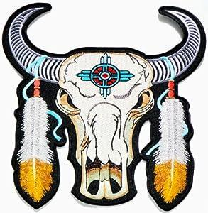 "Amazon.com: 9.5""x9.5"" Big Jumbo Large Indian Feather Bull"