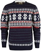 ililily Men's Classic Snowflake Pattern Winter Holiday Pullover Knit Sweater