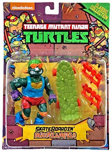 Teenage Mutant Ninja Turtles, Classic Collection, Skateboardin' Michelangelo Action Figure, 4 Inches (Teenage Mutant Ninja Turtles 1988 compare prices)