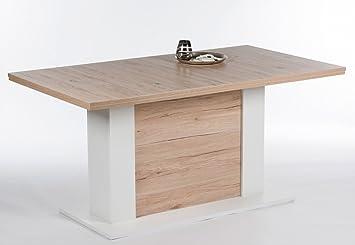esstisch jerry tisch 160 x 90 ausziehbare tischplatte san remo eiche dc563. Black Bedroom Furniture Sets. Home Design Ideas