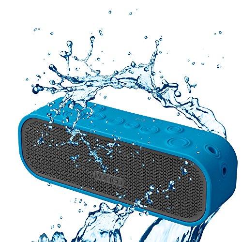 MOCREO®防沫防滴IPx5防水Bluetoothスピーカー ワイヤレススピーカー Bluetooth speakers、屋内/屋外ウルトラミニ、バッテリー内蔵 ハングアップリングデザイン持ち運び簡単/充電式 最新Bluetooth 4.0 NFCスピーカー NFC対応 iPhone 6/6 plus/6+/5s/5C/4s;Samsung galaxy S5/S4/S3,Samsung Note 2;HTC,iPad Air/5;iPad mini Retina;iPod対応 MOSOUND Crater ブルー