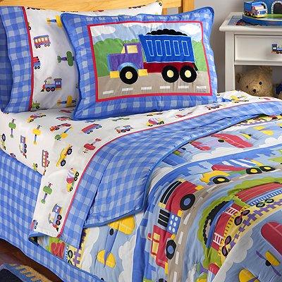 Olive Kids Trains Planes and Trucks Hugger Comforter, Twin