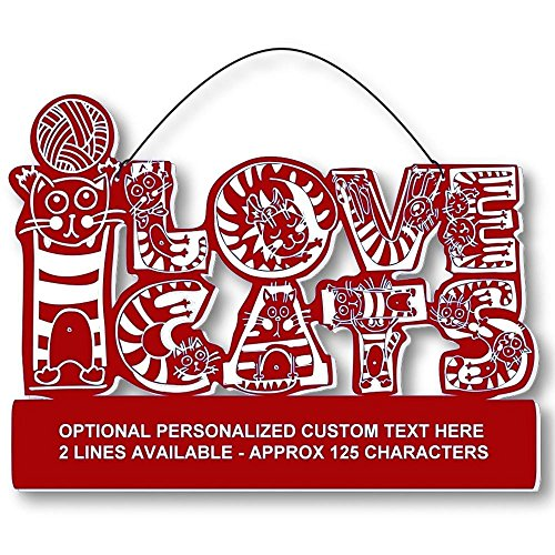 Cool Cats Crazy Alphabet-Cat Laser-Etched 3-In-1 Plaques Ver1 Cat Lady Red front-370329
