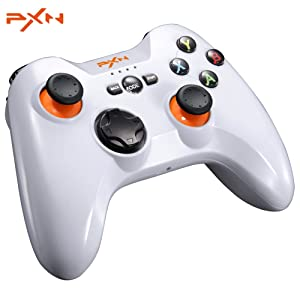 PXN - 9613 Wireless Bluetooth Game Controller Removable Handle Bracket Gamepad for PC / Tablet / Android Smartphone / TV Box