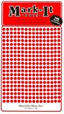 "Map Dot Stickers - Red - 1/8"" Diameter"