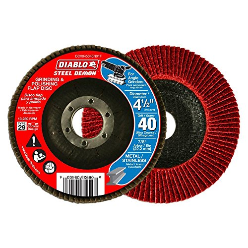 Steel Demon 4-1/2 in. 40-Grit Ultra Coarse Grinding and Polishing Flap Disc
