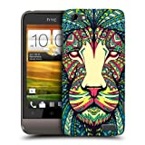 Head Case Designs Lion Aztec Animal Faces Protective Snap-on Hard Back Case Cover for HTC One V