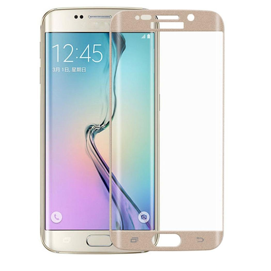 """Bestnow (Samsung Galaxy S6 Edge Plus 5.7"""") Screen Protector Premium HD Clear Curved Film Ultra High Definition Invisible and 3D PET Film Full Coverage Protector (Gold)"""