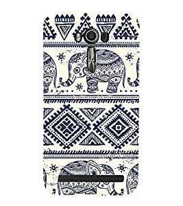 Elephant pattern Back Case Cover for Asus Zenfone 2 Laser ZE550KL::Asus Zenfone 2 Laser ZE550KL (5.5 Inches)