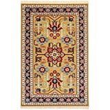 PERSIAN RUG MEHRABAN GOLD 150X100 CM 4.9X3.3 FT TRADITIONAL RUGS AND CARPET - 6 DIFFERENT SIZE AVAILABLE
