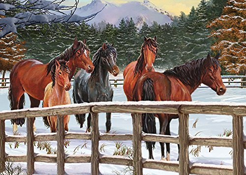 Cobble Hill Snowy Pasture Jigsaw Puzzle, 35-Piece