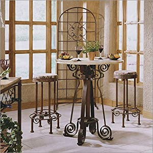 Bago Luma WTBA228 Barcelona Bistro Dining Table and Top