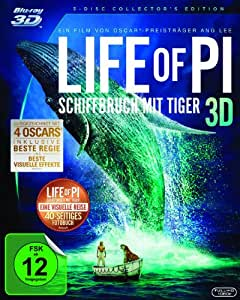 Life of Pi - Schiffbruch mit Tiger 3D [Blu-ray 3D] [ 3 DISC Collector's Edition]