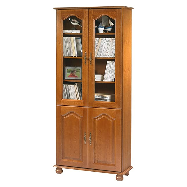 Actual diffusione 6202pvar Bretagna Libreria con 4ante legno 33x 81,4X 182,2cm