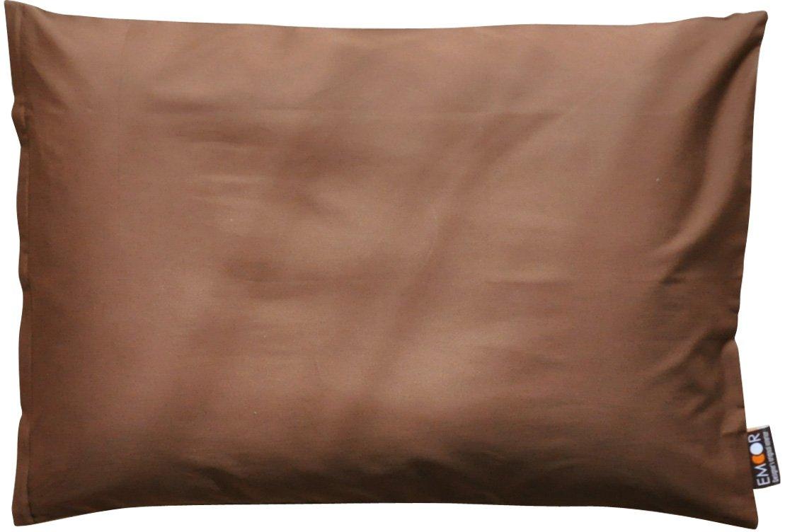 エムール ピロケース 43×63cm 綿100% 防ダニ 抗菌 防臭 日本製 ビターブラウン