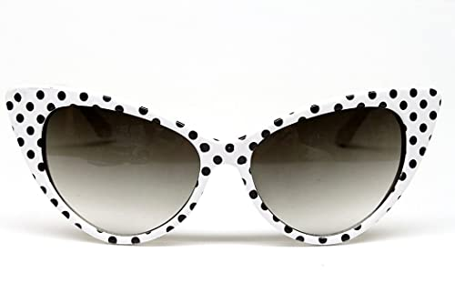 Cat Eye Vintage Retro Polka Dots Sunglasses Wm501