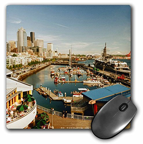 Danita Delimont - Seattle - USA, Washington, Seattle, Bell Street Pier - US48 RDU0473 - Richard Duval - MousePad (mp_148496_1)