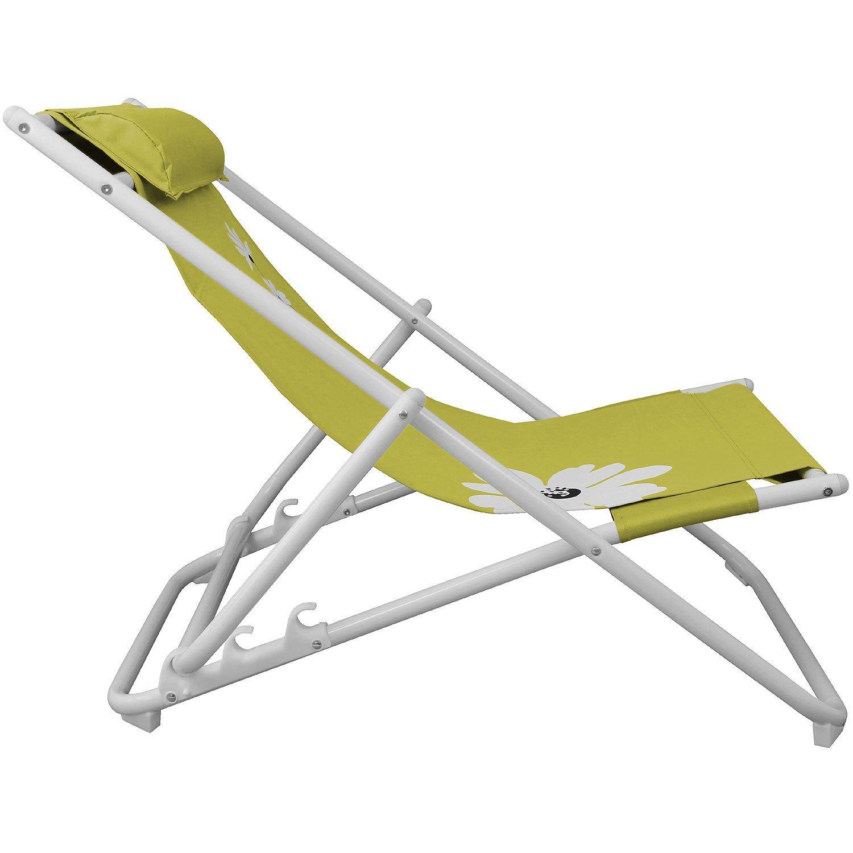 Strandliege Strandstuhl Liegestuhl Campingstuhl Gartenstuhl Faltstuhl Sonnenliege Campingmöbel Gartenmöbel klappbar – Grün bestellen