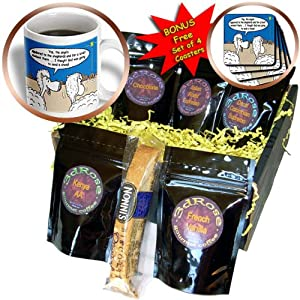 cgb_2813_1 Rich Diesslins Funny Christmas Cartoons - Sheep Discuss Christmas - Coffee Gift Baskets - Coffee Gift Basket