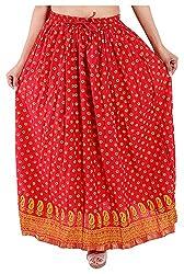 Magnus Women's Long Skirt (SKT499, Pink, M)
