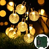 [Battery Included]Rechargeable Battery Operated String Lights with Timer, easyDecor 8 Modes 30 LED 21 ft Warm White Waterproof Decorative Christmas Fairy Globe for Indoor,Outdoor Bedroom,Party,Tree