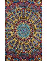 Sunshine Joy 3D Psychedelic Sunburst Tapestry Tablecloth Beach Sheet 60x90 Inches - Classic