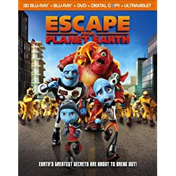 Escape from Planet Earth (Blu-ray 3D + Blu-ray + DVD + Digital Copy + UltraViolet)