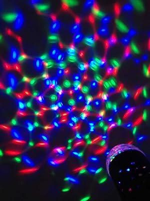 Luces Disco HOSl con iluminación LED RGB de cristalarco iris efecto de color KTV, ideal para fiestas de Navidad, boda y bares.