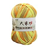 AGUIguo Knitting Yarn, Crochet Yarn,Cotton Yarn, Multicolor Wool Yarn 50g/Skein, Soft & Gentle for Baby Items (Color: J)