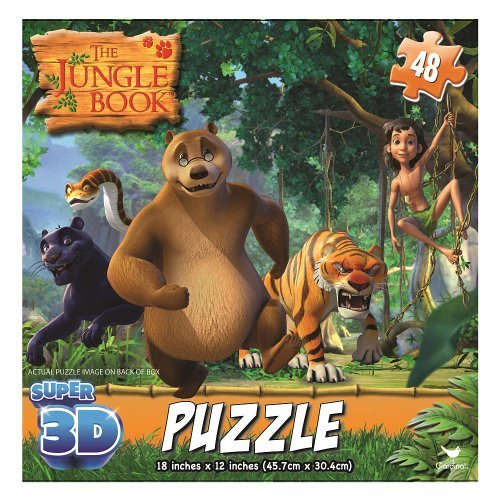 Jungle Book Super 3D Puzzles by Cardinal - 1